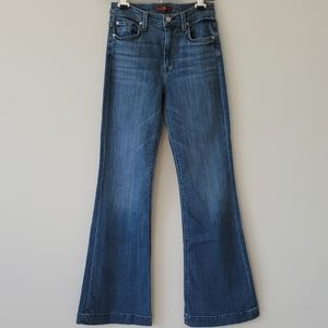 7 For All Mankind High Rise Wide Leg Jeans 27